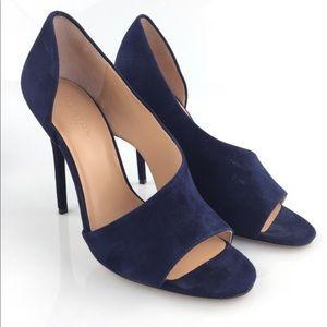 "NEW Halston Heritage Navy Suede ""Lynn"" heels"
